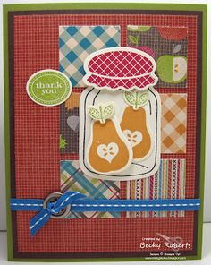 Making a jam or jelly jar for a scrapbook page.