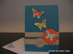 Stampin' Up! Elegant Butterfly punch, Bitty Butterfly punch, Scallop Circle punch, Circle punch, Scallop Edge Border punch