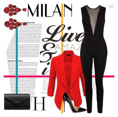 """""""Untitled #212"""" by amina-haskic ❤ liked on Polyvore featuring LE3NO, Dolce&Gabbana, Balenciaga and Christian Louboutin"""
