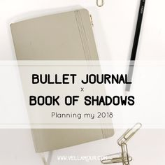 Bullet Journal x Book of Shadows: Planning my 2018 Instead of creating this one big book of shadows that I use every year (and get too nervous to even start), I decided to take a new approach and use the bullet journal method for my 2018 grimoire. Bullet Journal Books, Bullet Journal Themes, Bullet Journal Inspiration, Journal Pages, Journal Ideas, Witchcraft Meaning, Un Book, Grimoire Book, Love Spell That Work