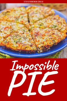 Our impossible pie recipe is super easy and quick to make. In only 30 min bake time, you'll have an amazing dish. Bisquick Recipes, Quiche Recipes, Brunch Recipes, Baby Food Recipes, Breakfast Recipes, Cooking Recipes, Savoury Recipes, Veggie Dishes, Savoury Dishes