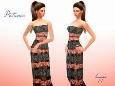 Laupipi: Petunia dress • Sims 4 Downloads