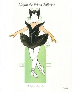 """""""Megan, the Prima Ballerina: Little Dancers Paper Dolls"""" by Tom Tierney; Dover Publications Inc. of Originally published as """"Megan the Prima Ballerina"""" in of Famous Artists Paintings, Storybook Characters, Little Ballerina, Bizarre, Vintage Paper Dolls, Fairy Dolls, Doll Crafts, Paper Toys, Free Paper"""
