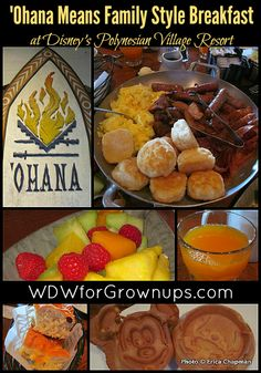 A Hearty Breakfast Served Up Family Style at 'Ohana | Disney's Polynesian Village Resort | Disney Dining