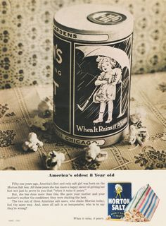 "Morton Salt Vintage Ad - ""America's Oldest 8 Year Old"""