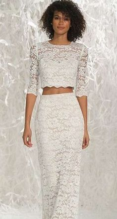 Tendencias de boda 2017: Vestidos de novia de dos piezas [FOTOS] (2/40) | Ellahoy