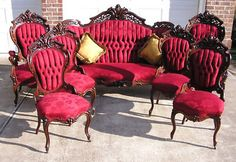 This Meeks Stanton Hall Parlor set in rosewood sold for over 20,000 dollars a few years ago.