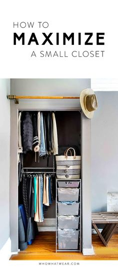 Reorganize your closet to get the most out of it