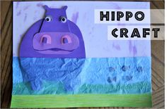 """I HEART CRAFTY THINGS: The HICCUPotamus Craft = book texture craft paint - thinking we might sing the Mary Rice Hopkins """"Hip-Hip-Hippopatamus song"""" about creation and do this craft Preschool Projects, Craft Activities For Kids, Preschool Activities, Craft Ideas, Zoo Preschool, Kindergarten Art, Art Projects, Hippo Crafts, Jungle Crafts"""
