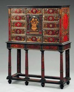 Cabinet d'apparat rectangulaire. Travail des ateliers parisiens du Louvre, par Pierre Gole, puis par André- Charles Boulle