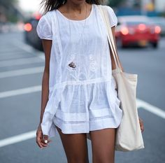 street style, white t-shirt dress, blogger style, fashion blog