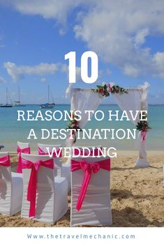 Should you have a destination wedding? Why having a destination wedding is the way to save money and take the wedding planning stress away! Beach Wedding Bouquets, Beach Theme Wedding Invitations, Beach Wedding Centerpieces, Wedding Arrangements, Beach Weddings, Wedding Planning Tips, Wedding Tips, Wedding Events, Wedding Games