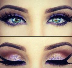 Image via We Heart It https://weheartit.com/entry/171768402 #beautiful #blending #eyeliner #fashion #gorgeous #makeup #mascara #pink #purple #brows
