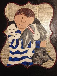 Pet Portrait of Jake Tilly Lucy SOLD by KimmoCreations on Etsy