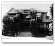Xasmin House, Palo Alto, California, where 'Abdu'l-Bahá had luncheon with the President of Stanford University, David Starr Jordan, after addressing the entire student body and faculty at Stanford.
