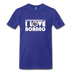 Love #Borneo men royal blue t-shirt ~ 1850. All the benefits will be invested in community projects in Borneo. Worldwide delivery.