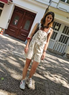H&m Trends, Overalls Fashion, Batik, Pinafore Dress, Dungarees, Overall Shorts, Bucket Bag, What To Wear, Outfit