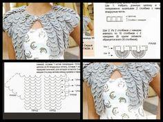 Crocodile Crochet Bolero Pattern