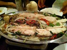perfectly-cooked fish at nha hang ngon (ho chi minh, vietnam, southeast asia)