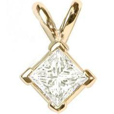 Halbkaräter Diamantanhänger aus 585er Gelbgold gefertigt für nur 1299.00 Euro bei www.pearlgem.de erhältlich.