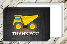 Dump Everything Construction Birthday Thank You by CreateCapture