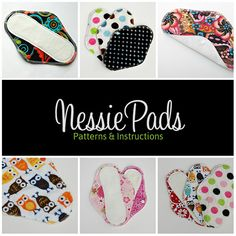 NessiePads Cloth Pad / Mama Cloth PDF Sewing Patterns.