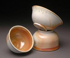 Wood Fired Porcelain Bowls with Orange Shino Liner by MBrownCeramics on DeviantArt