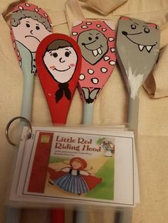 ideas card games spoons fun for 2019 Reading Corner Kids, Children Reading, Red Riding Hood Story, Story Sack, Early Years Classroom, Traditional Tales, Outdoor Games For Kids, Book Corners, Circle Time