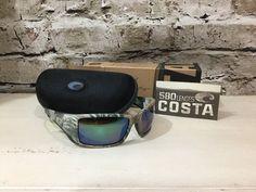 b2b74cb5e4 2013 Costa Del Mar Blackfin Realtree Camo Green Mirror 580g Lens Sunglasses