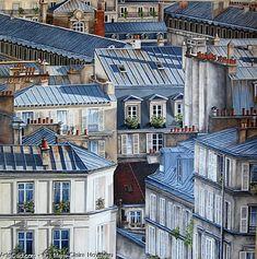 Oeuvre >> Marie-Claire Houmeau >> Toits de Paris Montmartre