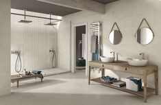 Bathrooms and spa areas are the most intimate, precious places. Bathroom Spa, Double Vanity, Mirror, Studio, Furniture, Ivory, Home Decor, Decoration Home, Room Decor