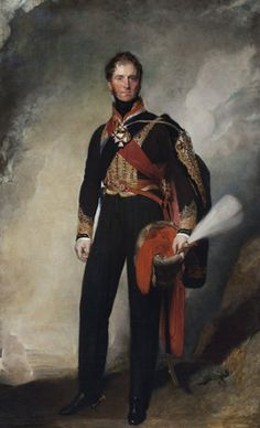 1ST MARQUESS OF ANGLESEY, HENRY WILLIAM PAGET, KG (1768-1854) by Sir Thomas Lawrence. He lead the charge of the heavy cavalry against d'Erlon's column during the Battle of Waterloo. Captain William Paget, Sir Arthur Paget, General Sir Edward Paget, Vice-Admiral Sir Charles Paget and Berkeley Paget were his younger brothers. He lost his right leg at Waterloo. He became a full General in 1830.