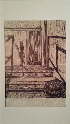 Halloween Lino Print. Made by Jennifer LeBlanc at Lakehead University(2009-2010).