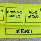 This foldable compares positive slope, negative slope, zero slope, and no slope.  Under each tab there is an example of finding slope given a graph...