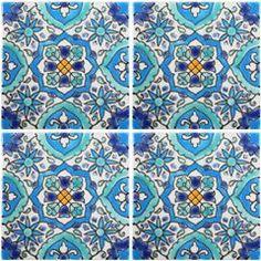 gorgeous tiles...edging idea for  swimming pool