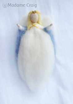 Needle Felted Angel  Guardian Angel  Christening  by madamecraig