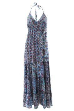 Aqua Blue Halterneck Maxi Dress by Charlotte's Web | Charlotte's Web