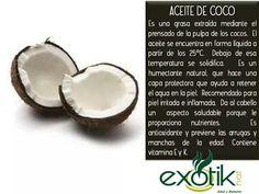 Aceite de Coco.   Coconut Oil.