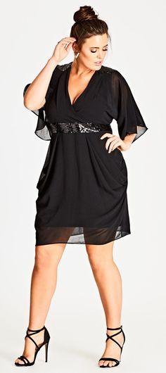 45 Plus Size Wedding Guest Dresses {with Sleeves} – Plus Size Cocktail Dresses -… - Noel - christmas Plus Size Black Dresses, Plus Size Cocktail Dresses, Plus Size Party Dresses, Black Cocktail Dress, Plus Size Outfits, Flattering Plus Size Dresses, Plus Size Formal Gown, Summer Cocktail Dress Wedding, Plus Size Gala Dress