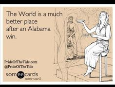 So true in my house! ~ Check this out too ~ RollTideWarEagle.com sports stories, audio podcasts and FREE online football rules tutorial, Train Deck. Learn the rules of the game you love. #CollegeFootball #RollTide #Alabama