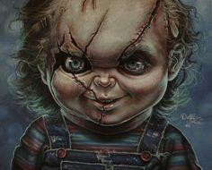 Chucky painting by gimgams Scary Movies, Horror Movies, Childs Play Chucky, Horror Artwork, Horror Show, Real Horror, Horror Icons, Arte Horror, Wow Art