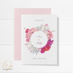 #meghívó #esküvőimeghívó #esküvő #esküvőidekoráció Wedding Paper, Frame, Picture Frame, Frames