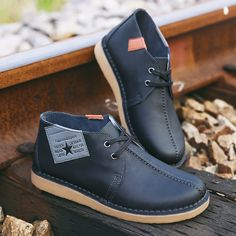 Brand Men Boots Plus Size New Genuine Leather Boots Chukka Low Cut Martin Boots Men Brand Motorcycle Boots Vintage Style Shoes