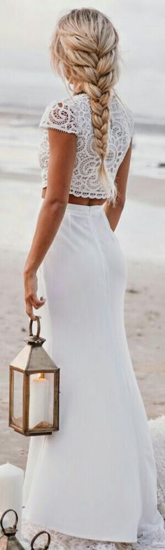Lace and Maxi Twin set / Sabo Skirt