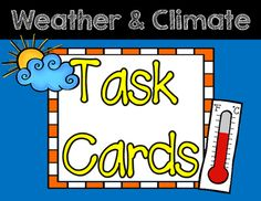 **This set aligns to 3rd Grade NGSS!**This set includes 16 open-ended question cards related to weather and climate. This set can be used throughout your unit as review, and/or at the end of your Weather and Climate unit in whole-group or small group review.