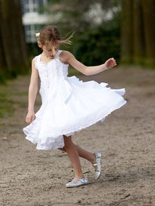We will take this picture- Leah dancing in her dress after it is all said and done. :D