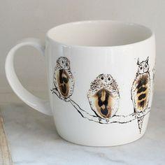 Anna Wright Twitawoo shaped fine bone china mug Anna Wright, China Mugs, Mixed Media Collage, Bone China, Shapes