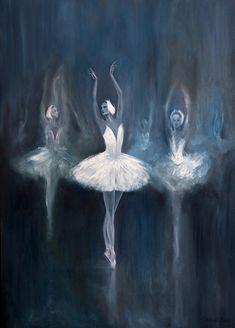 "art-and-dream: "" Russian Ballet Drawing, Fine Arts, Painting Salavat Fidai , Russian F "" Simple Canvas Paintings, Easy Canvas Painting, Easy Paintings, Painting Art, Dark Art Paintings, Russian Painting, Canvas Artwork, Ballet Russo, Ballerina Kunst"