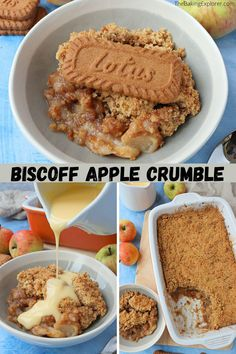 Biscoff Recipes, Baking Recipes, Apple Recipes, Fall Recipes, Sweet Recipes, Healthy Recipes, Vegan Desserts, Easy Desserts, Delicious Desserts