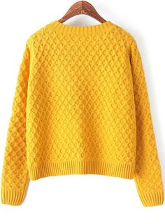Chic Exploration Cable Knit Sweater in Yellow - New Arrivals ...